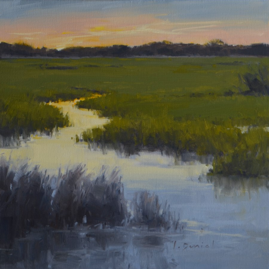 """Twilight - Anderson Gallery Exhibit"" original fine art by Laurel Daniel"