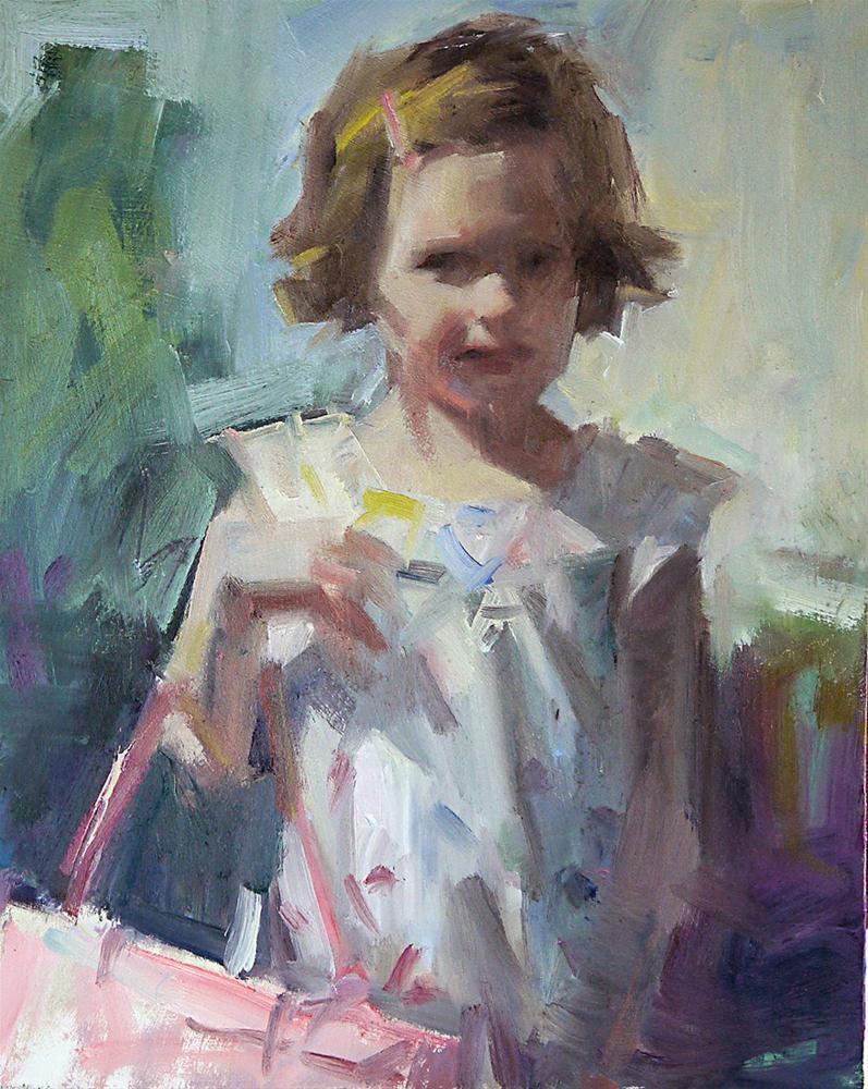 """Pink Purse"" original fine art by Mike Peterson"