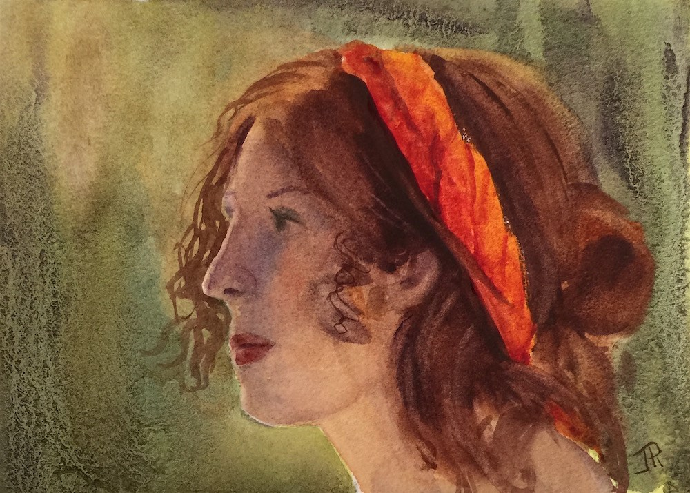 """Resolve"" original fine art by June Rollins"