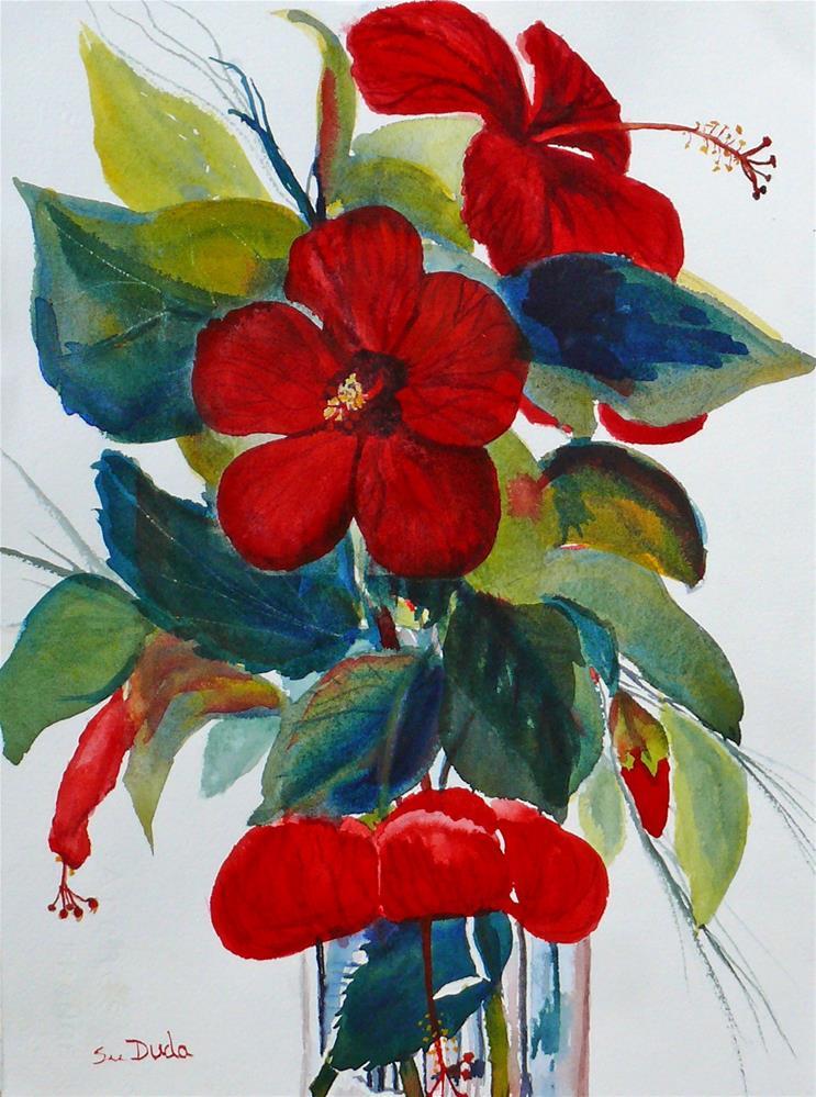 """Red Dance"" original fine art by Susan Duda"