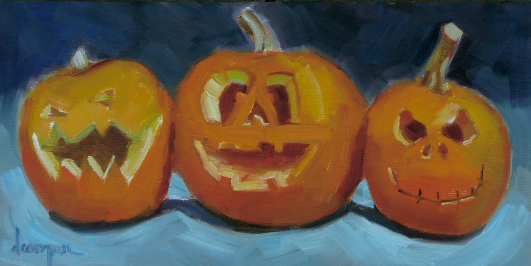 """Manny, Moe and Jack"" original fine art by Dana Cooper"