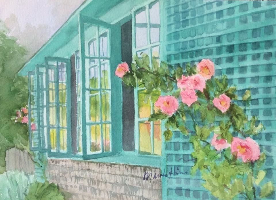 """Reflections"" original fine art by Marita Hines"