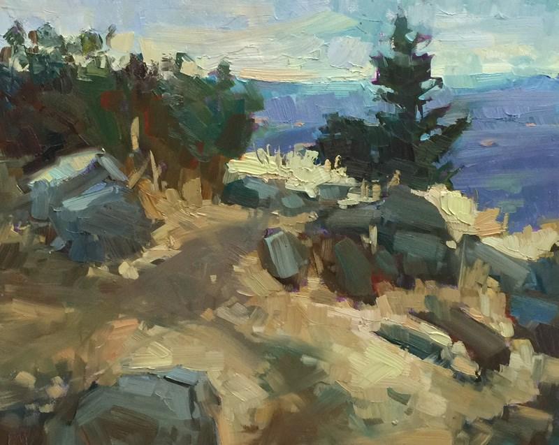"""Spencer Butte Summit"" original fine art by Patti McNutt"