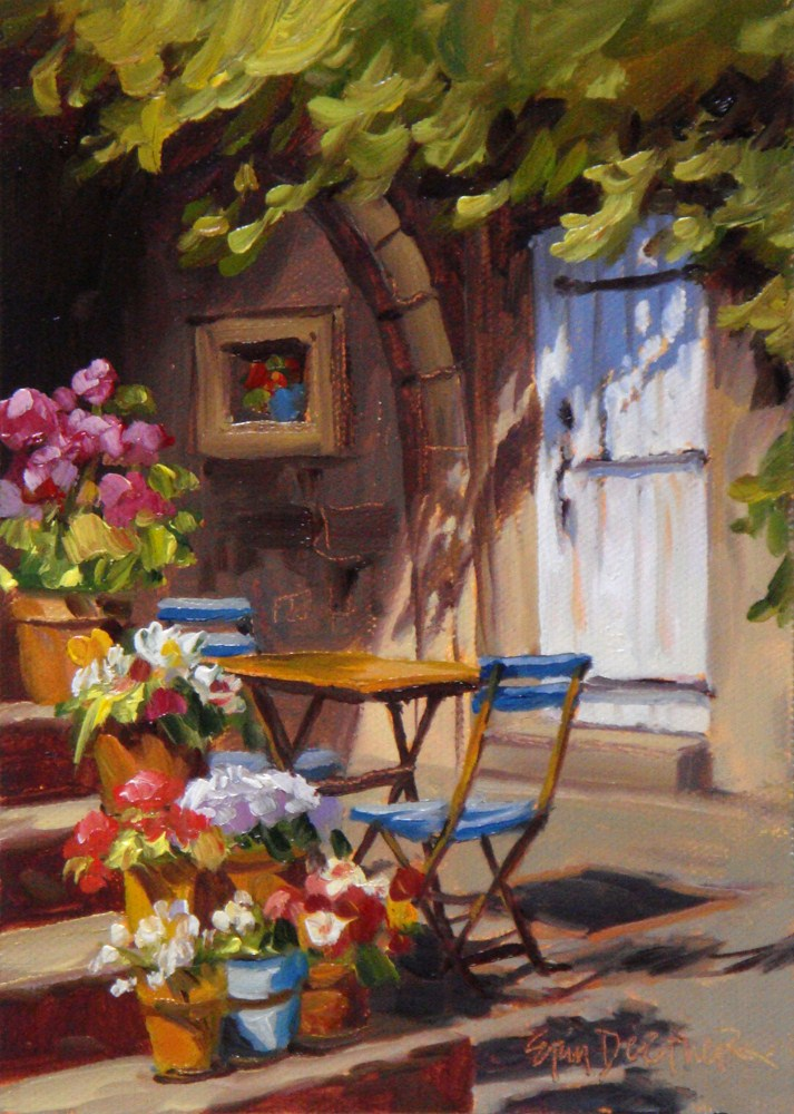 """""""French Flowers"""" original fine art by Erin Dertner"""