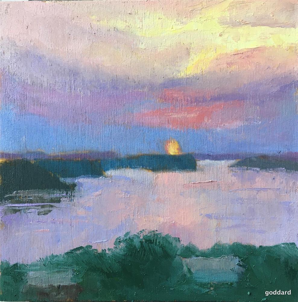 """Smoky Sunset"" original fine art by Shari Goddard Shambaugh"