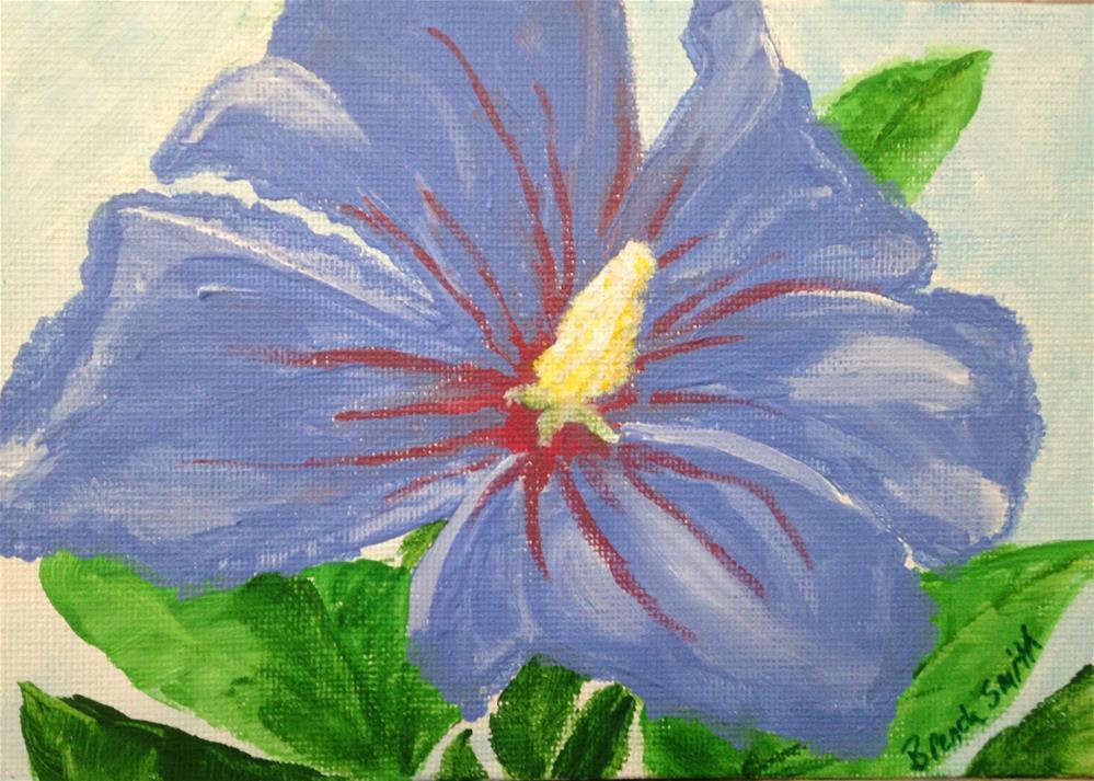 """Blue Hibiscus"" original fine art by Brenda Smith"