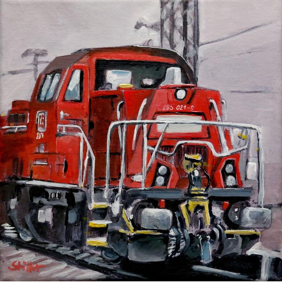 """""""2001. Diesel Locomotive"""" original fine art by Dietmar Stiller"""