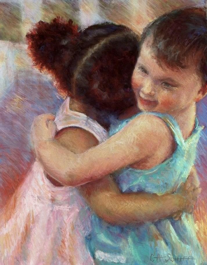 """I Have A Dream....."" original fine art by Carol Schiff"