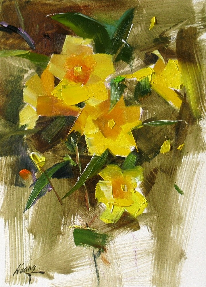 """""""Memory of the Spring"""" original fine art by Qiang Huang"""