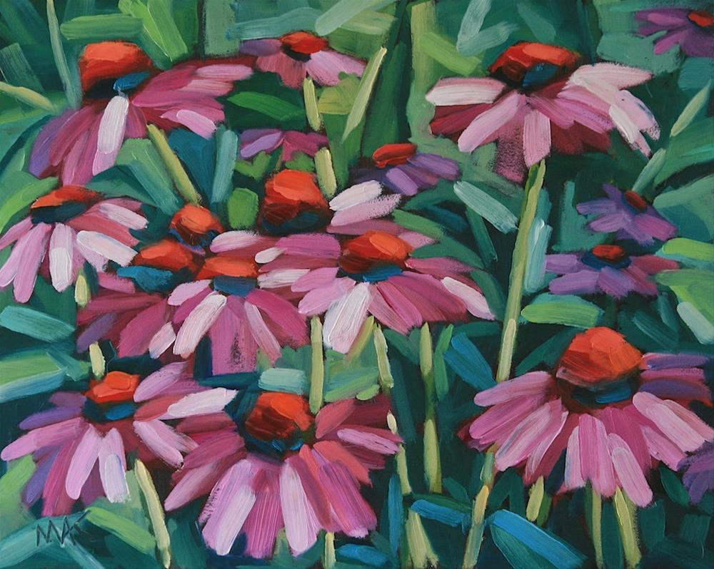"""""""Pink Coneflowers"""" original fine art by Mary Anne Cary"""