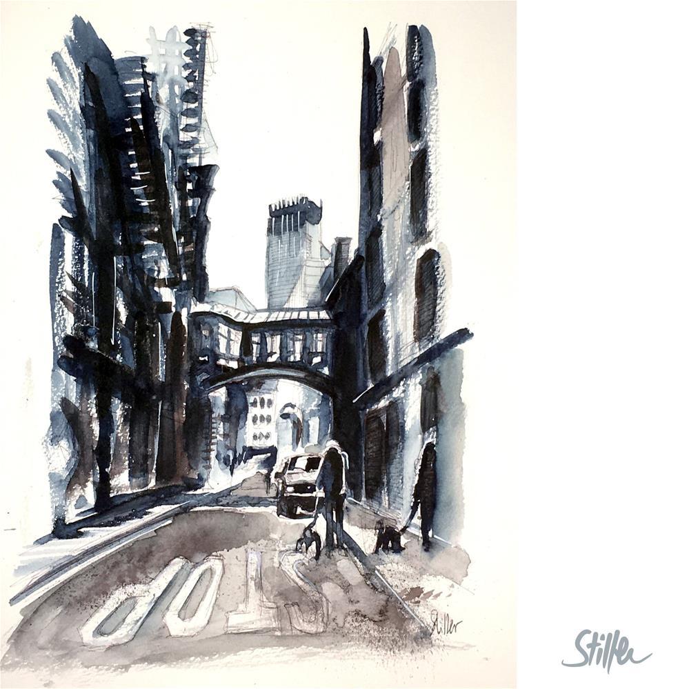 """""""3709 Walk the Dog in NYC"""" original fine art by Dietmar Stiller"""