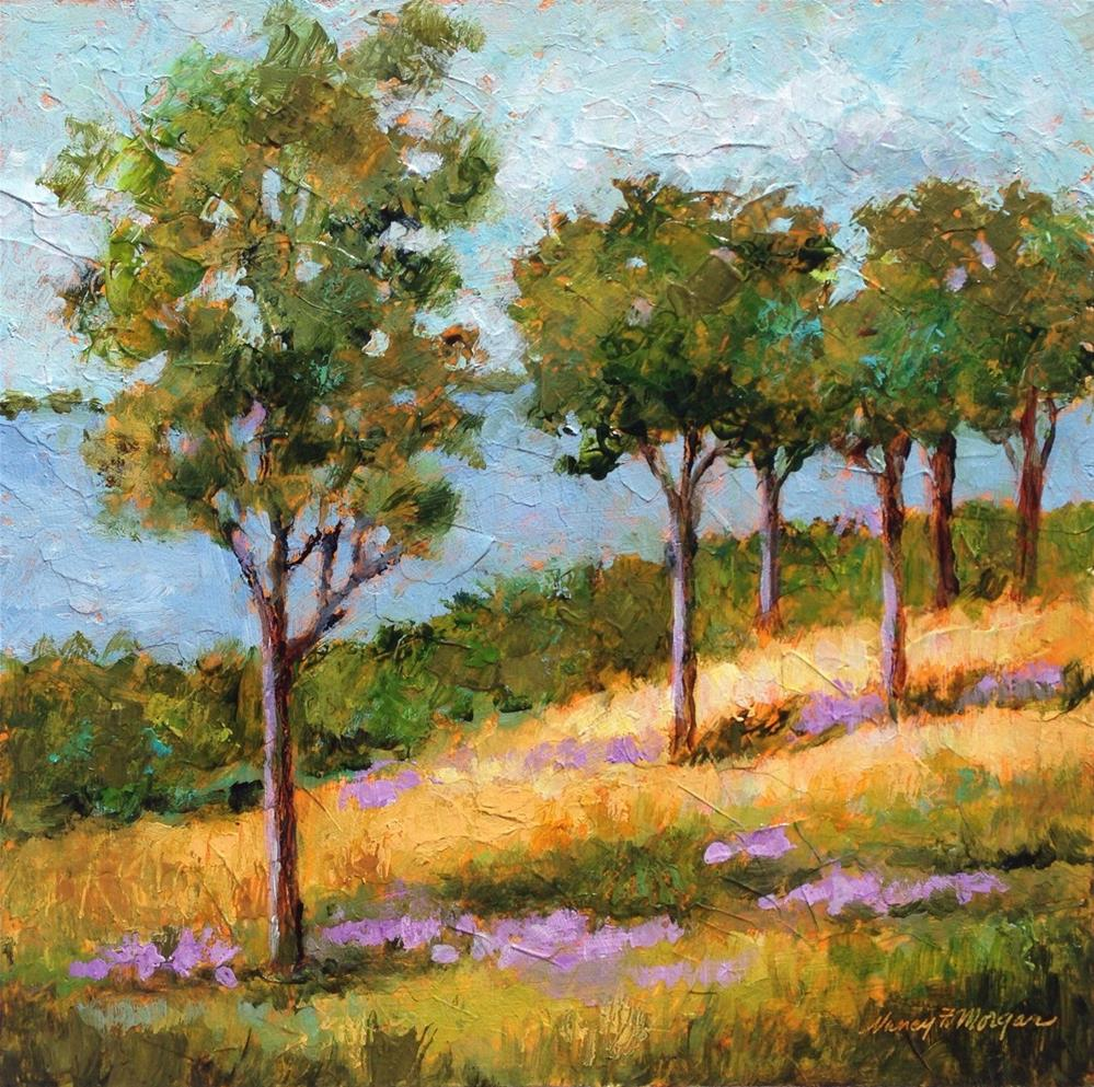"""""""Lake View"""" original fine art by Nancy F. Morgan"""