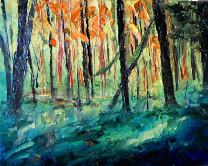 """8 x 10 inch oil Fall Colors #6"" original fine art by Linda Yurgensen"