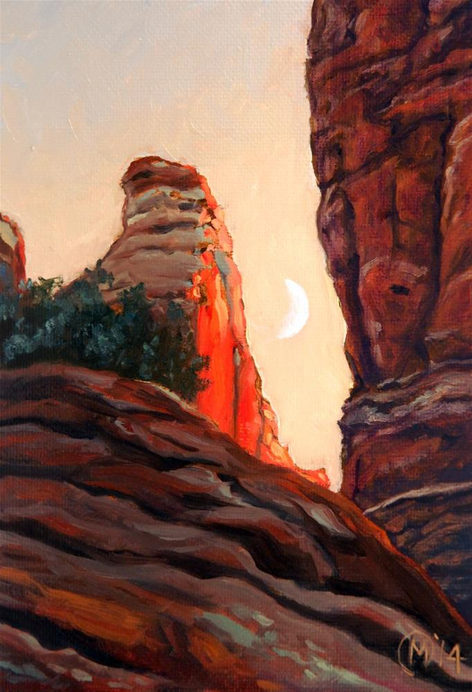 """Cathedral Rock Spire"" original fine art by Maurice Morgan II"