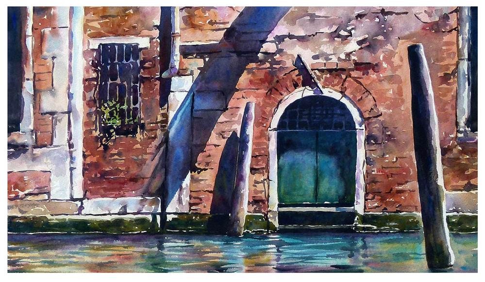 """Venice canal door."" original fine art by Graham Berry"