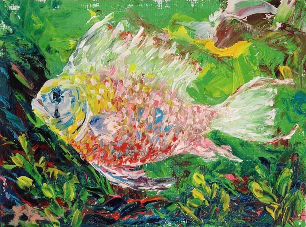 """Tropical Fish 2"" original fine art by Ken Fraser"