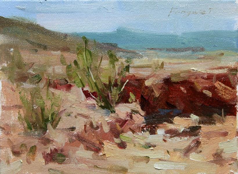 """Small Landscape 05-0-10-2013"" original fine art by Fongwei Liu"
