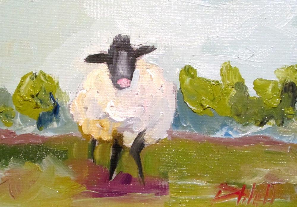 """Sheep No. 7"" original fine art by Delilah Smith"
