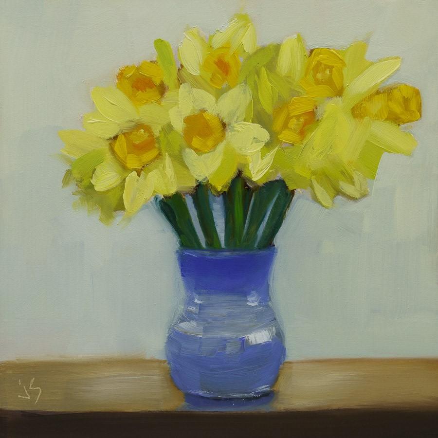 """Springtime (Framed)"" original fine art by Johnna Schelling"