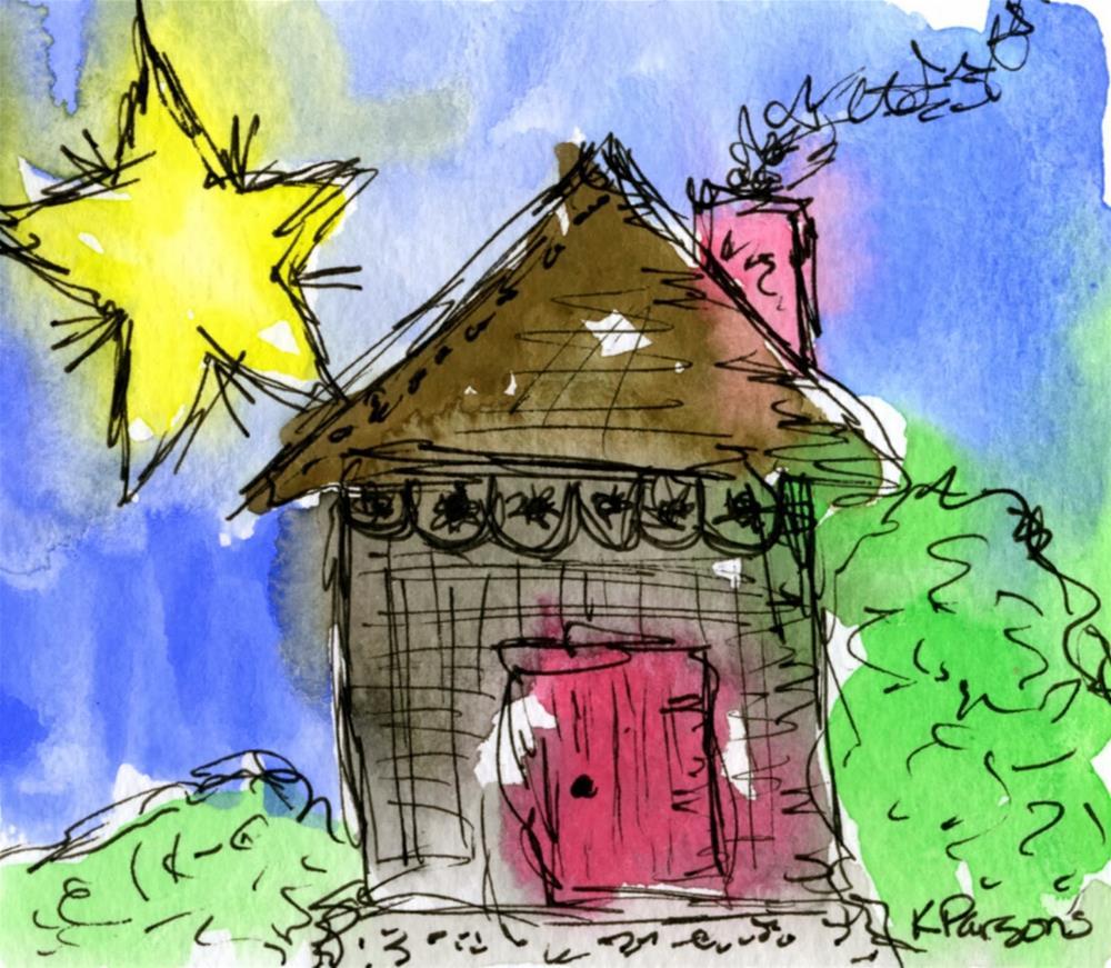 """Star Light, Star Bright"" original fine art by Kali Parsons"