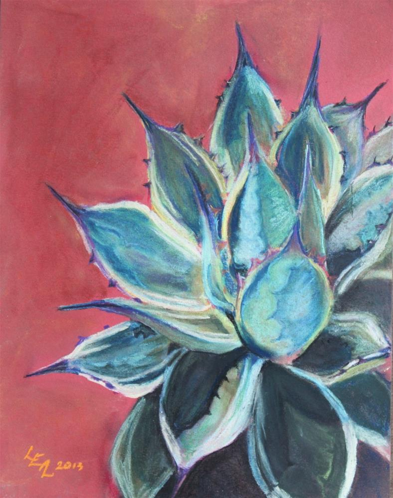 """""""Tall Agave with Cream"""" original fine art by Anna Lisa Leal"""