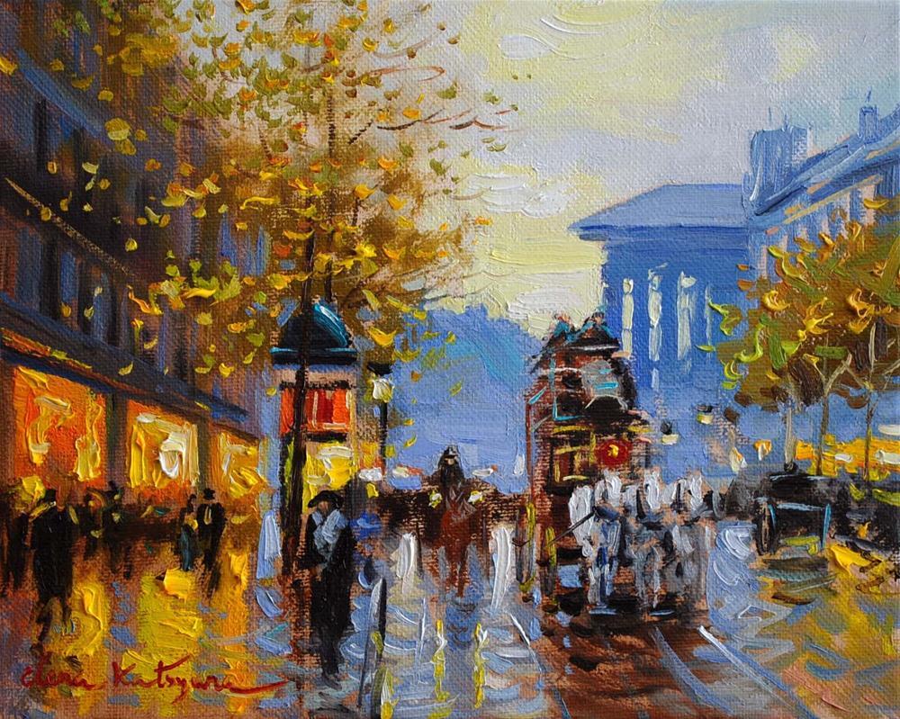 """""""A Walk in Paris"""" original fine art by Elena Katsyura"""