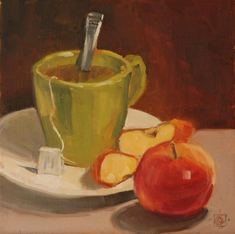 """Apple Tea"" original fine art by Carol Granger"