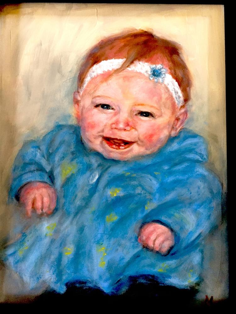 """Baby Blue"" original fine art by Michelle Linnihan"