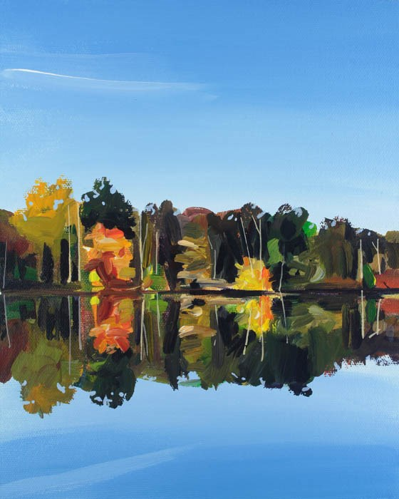 """Audubon Reflections"" original fine art by Chris Breier"