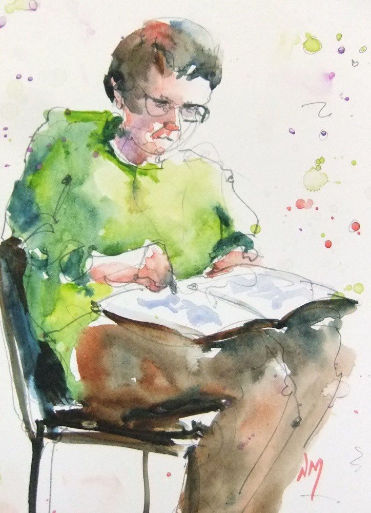 """an open book"" original fine art by Nora MacPhail"