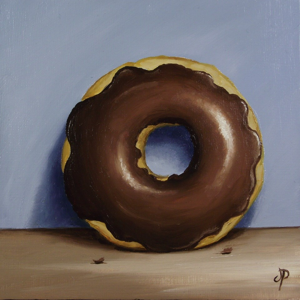 """Chocolate Donut"" original fine art by Jane Palmer"