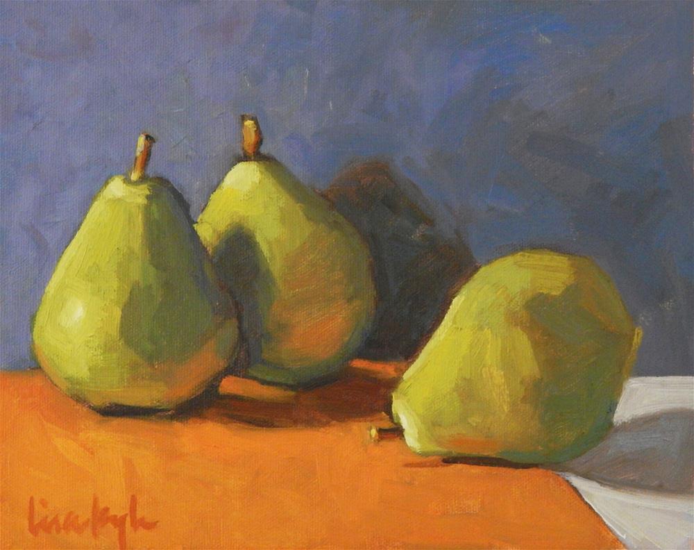 """""""Three on Orange"""" original fine art by Lisa Kyle"""