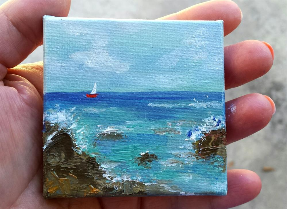 """Red Boat"" original fine art by Jodi Workman"