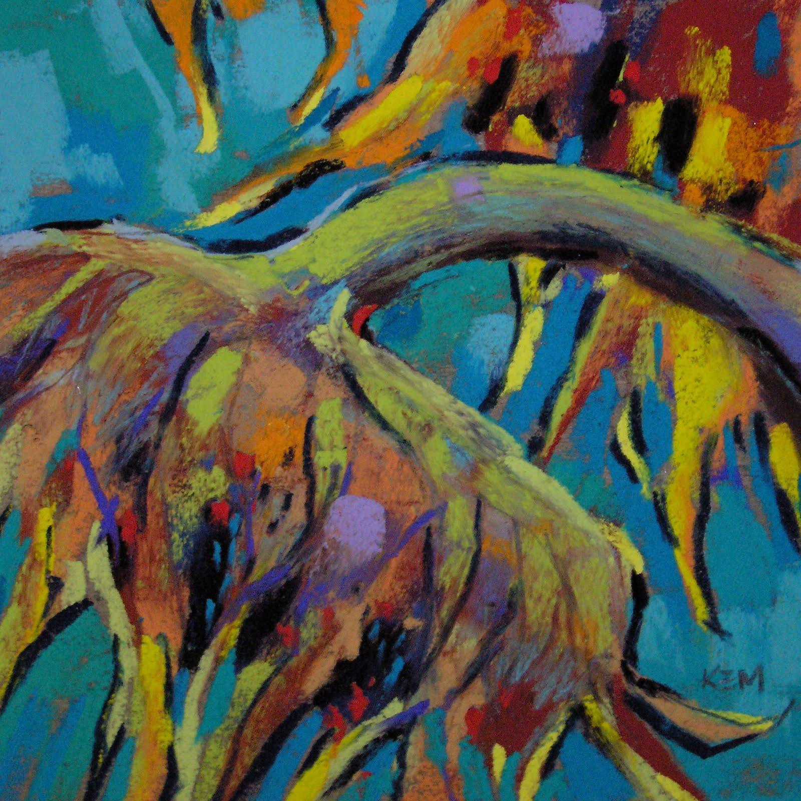 """A Sunny Day ...Sunflower Painting 6x6 pastel"" original fine art by Karen Margulis"