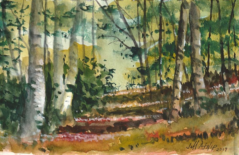 """Cabin View"" original fine art by Jeff Atnip"