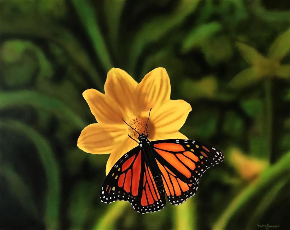 """Up Close Butterfly"" original fine art by Fred Schollmeyer"