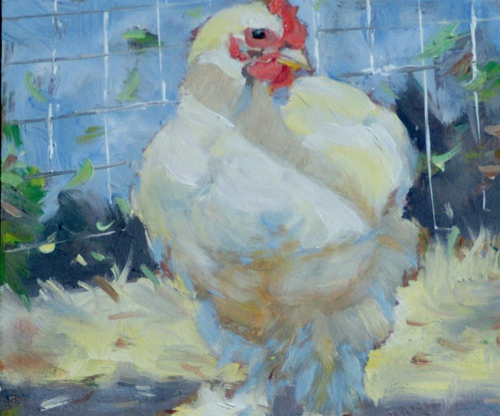 """Sweet and Fluffy"" original fine art by Sandra L Harris"