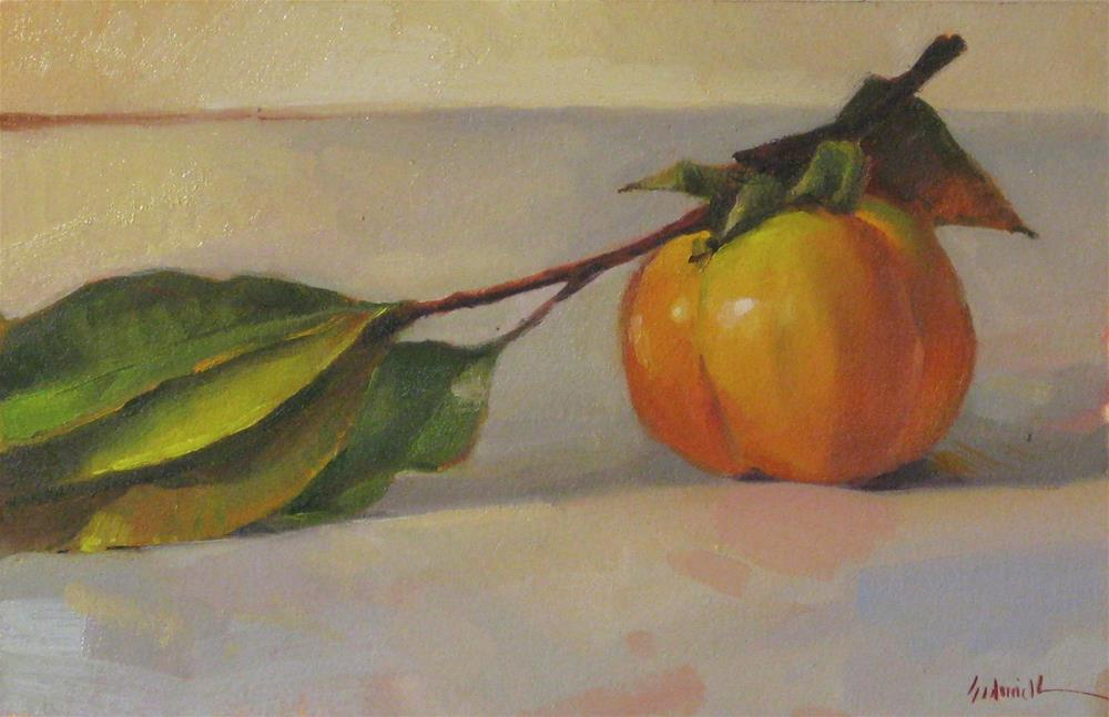 """Early Persimmon"" original fine art by Sarah Sedwick"