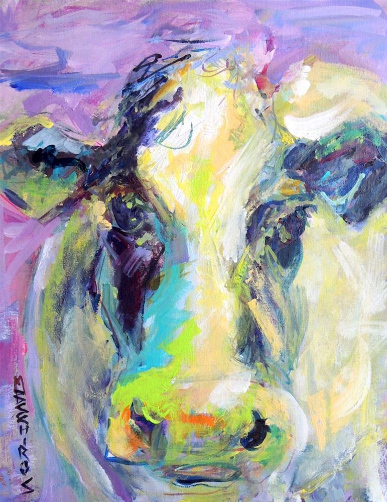 """""""Green Nose"""" original fine art by Mary Schiros"""
