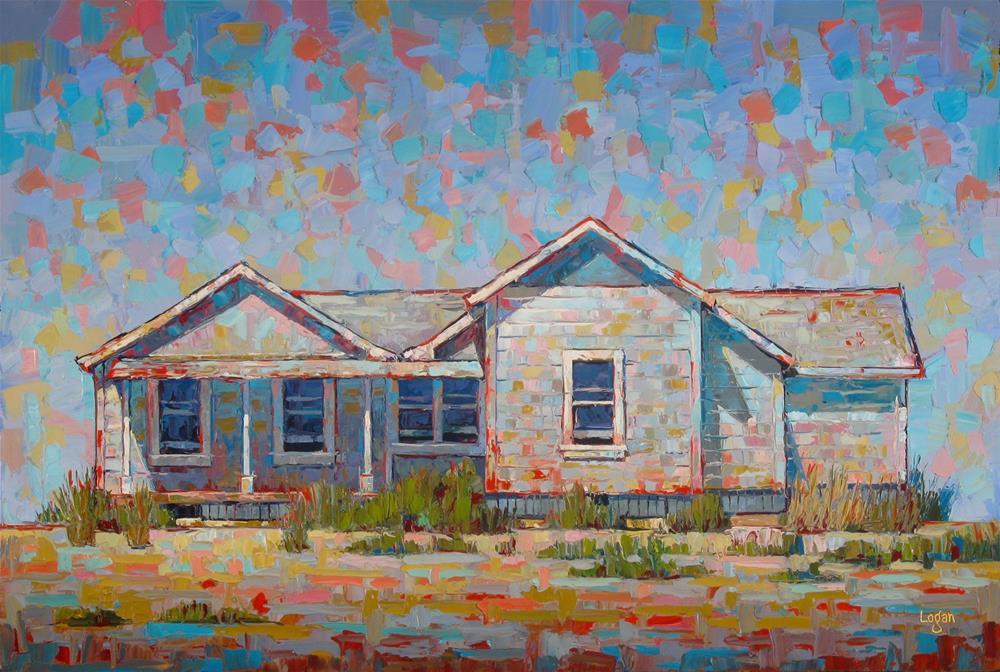 """Green Gate Ranch House"" original fine art by Raymond Logan"