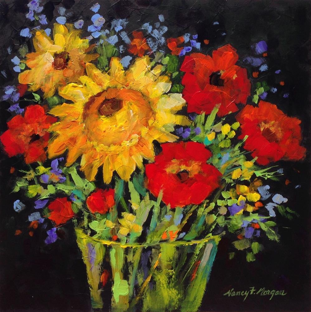 """Bright and Beautiful"" original fine art by Nancy F. Morgan"