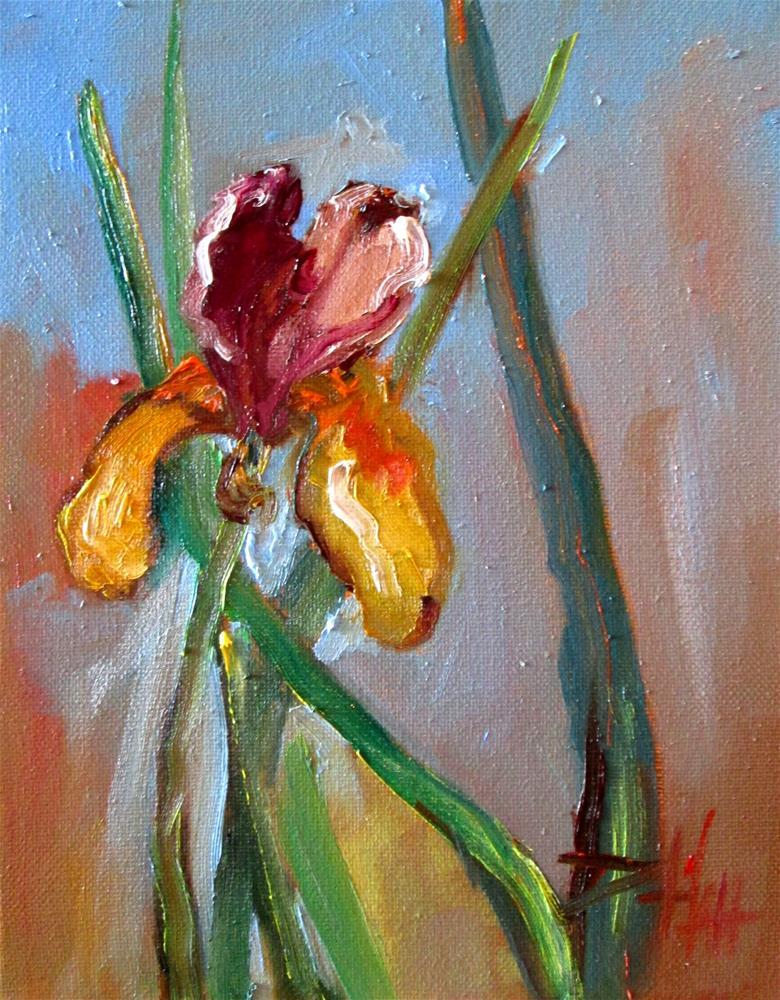 """Yellow Iris"" original fine art by Delilah Smith"