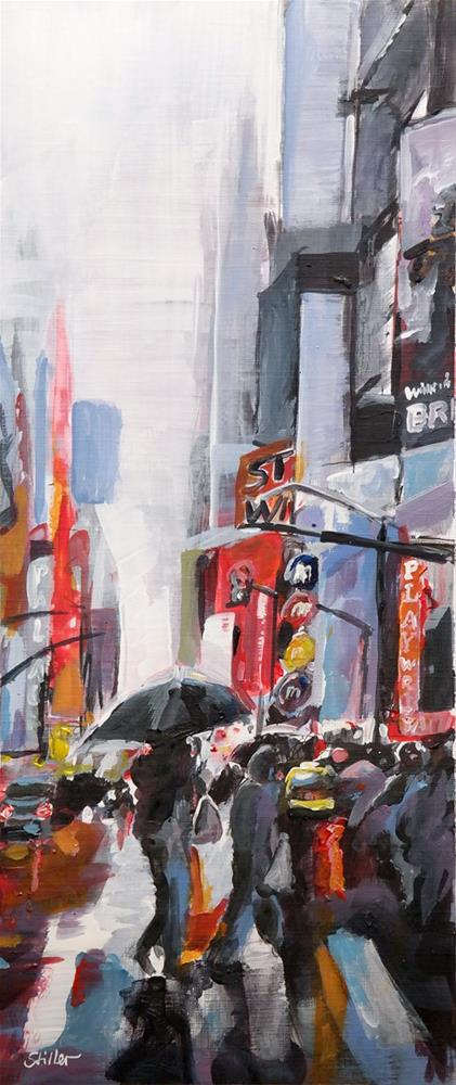 """2705 Rain in NYC"" original fine art by Dietmar Stiller"