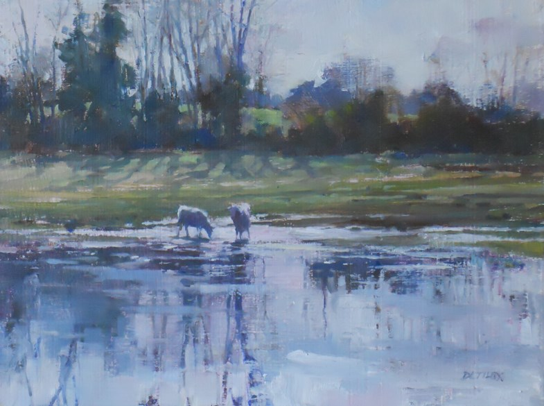 """A Frosty Morning"" original fine art by Deborah Tilby"