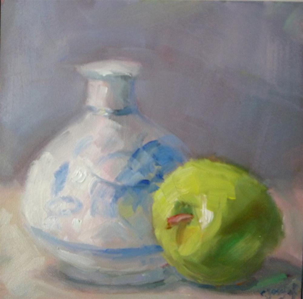 """Blue and green"" original fine art by Carol Josefiak"