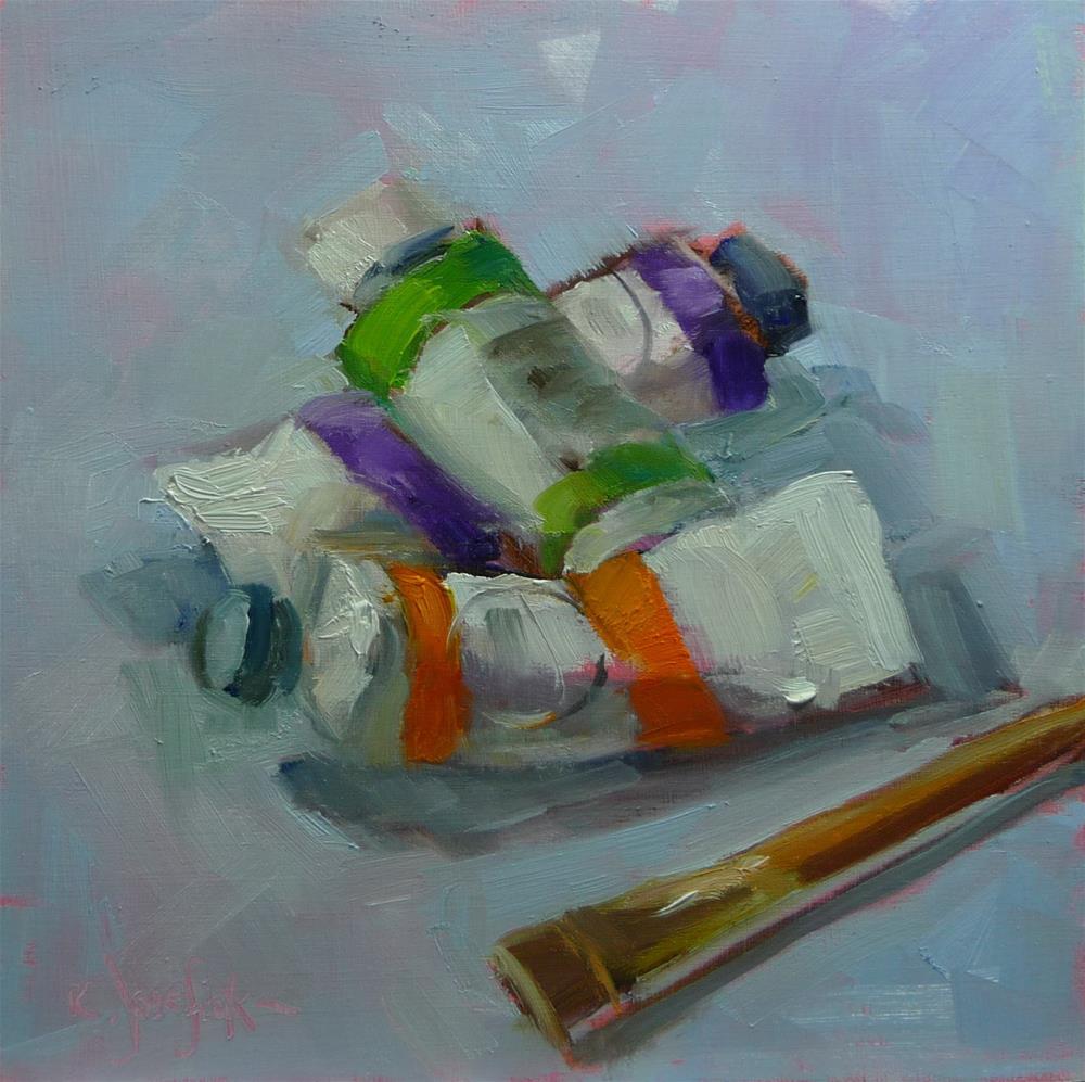 """time to paint"" original fine art by Carol Josefiak"
