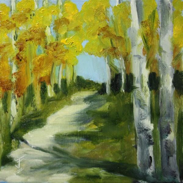"""Fall Aspens"" original fine art by Jane Frederick"