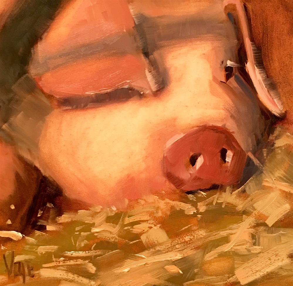 """#346 Long Day"" original fine art by Patty Voje"