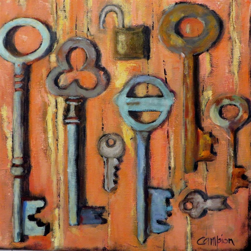 """796 Keyless Entry"" original fine art by Diane Campion"