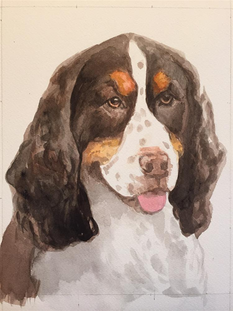 """Rosco"" original fine art by Cindy McDonough"